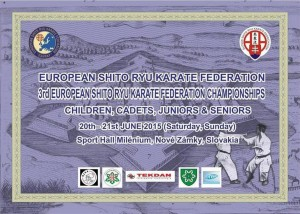 3rd EUROPEAN SHITO RYU KARATE FEDERATION CHAMPIONSHIPS
