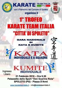 "1° TROFEO KARATE TEAM ITALIA ""CITTA' DI SPOLETO"""