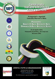 Locandina Campionato Italiano Individuale Karate e Kumite_UNIKA_2016