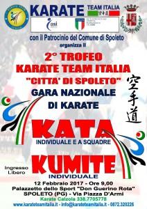 "2° TROFEO KARATE TEAM ITALIA ""CITTA' DI SPOLETO"""